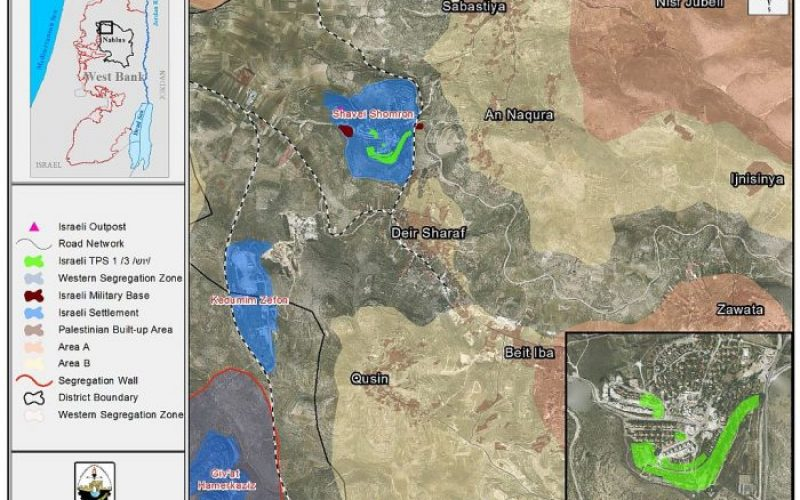 Expansion to take place in Shavei Shomron settlement in Nablus Governorate