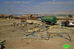 Israeli Occupation Forces demolish residential and agricultural structures in Tubas