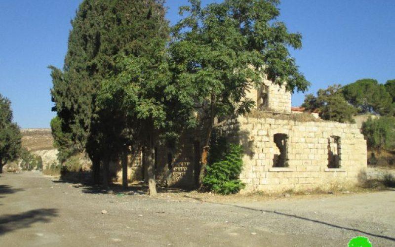 الاحتلال الإسرائيلي يوقف العمل بشق طريق زراعي في منطقة المسعودية