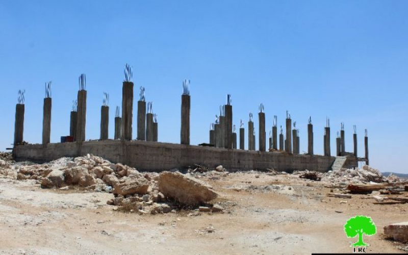 Stop-Work order on agricultural structure in the Hebron town of Yatta