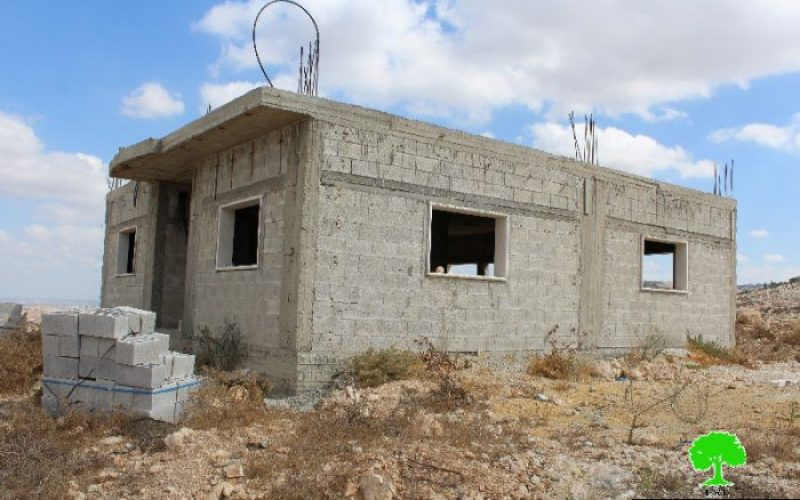 Stop-Work orders on four residences in the Hebron town of Beit Awwa
