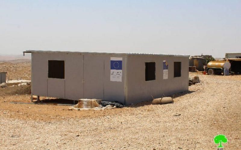 Funded by EU: Israeli Occupation Forces demolish five residences in Um Al-Kheir hamlet