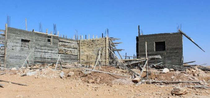 Stop- Work order on an under-construction residence in Hebron city