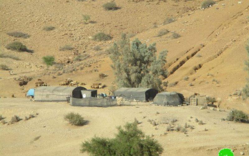 الاحتلال الإسرائيلي يجبر أهاليخربة حمصة الفوقا على النزوح بحجة التدريبات العسكرية