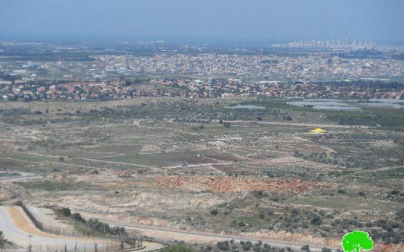 أمر عسكري بمصادرة 4 دونمات من الأراضي الزراعيةإخطارات عسكرية من الأراضي ال غرب قرية جيوس / محافظة قلقيلية