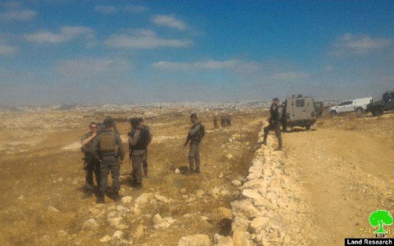 Israeli Occupation Forces demolish water well in the Hebron hamlet of Um Nir