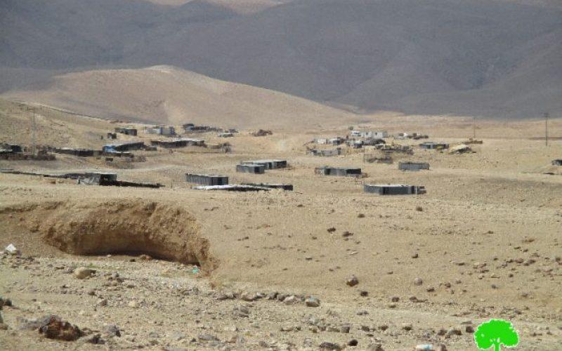 مصادرة بيوت متنقلة في تجمع عرب المليحات في منطقة المعرجات