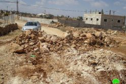 Israeli Occupation Forces demolish agricultural structures and seal off roads in Nablus