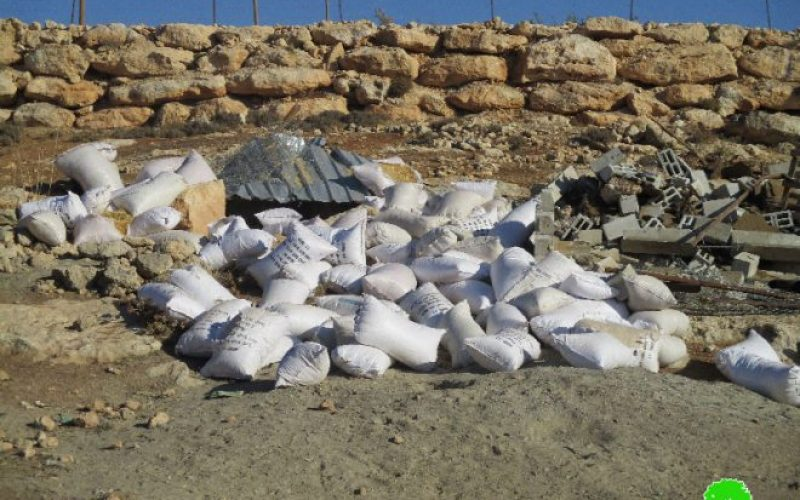 الاحتلال الإسرائيلي يهدم مزرعة للأغنام في قرية بيت دجن