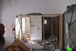الاحتلال الإسرائيلي يهدم منزل الأسير امجد العليوي في مدينة نابلس
