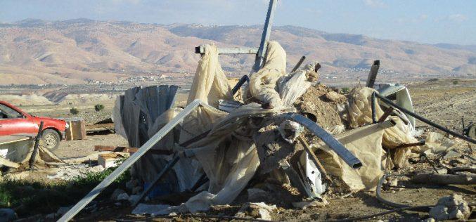 Israeli Occupation Forces demolish AL-Deir Bedouin community in Ein Al-Beida village