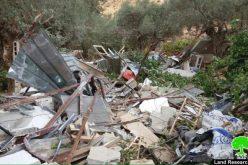 هدم 3 مساكن في موقع بئر عونة – بيت جالا / محافظة بيت لحم