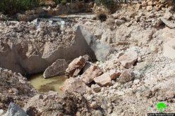 الاحتلال يهدم 4 آبار زراعية في جورة الخيل شرق سعير