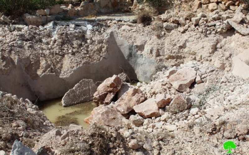 Israeli Occupation Forces demolish four agricultural wells in Hebron town of Sa'ir