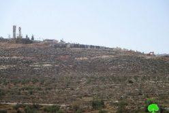 """الشروع بشق طريق استعماري حول مستعمرة """" مجدوليم"""" على أراضي بلدة قصرة"""