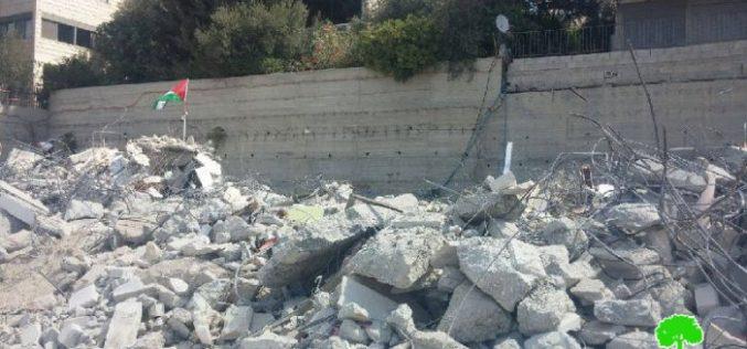 سلطات الاحتلال تهدم 4 شقق سكنية في بلدة الطور في مدينة القدس المحتلة