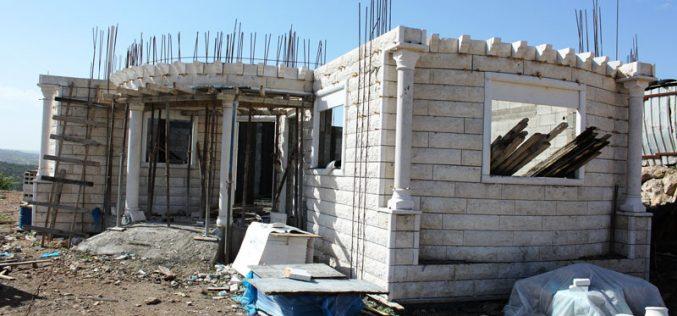 Stop-work and demolition orders in the Hebron town of Idhna