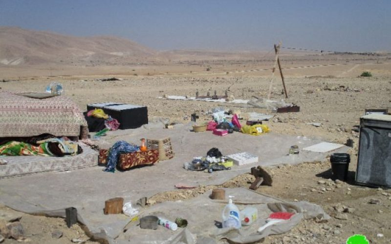 Israeli Occupation Forces demolish Al-Mu'arrajat Bedouin community for the fourth time in 2016