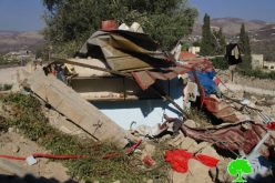 Israeli Occupation Forces demolish structures, impose self-demolition on a barrack in Nablus
