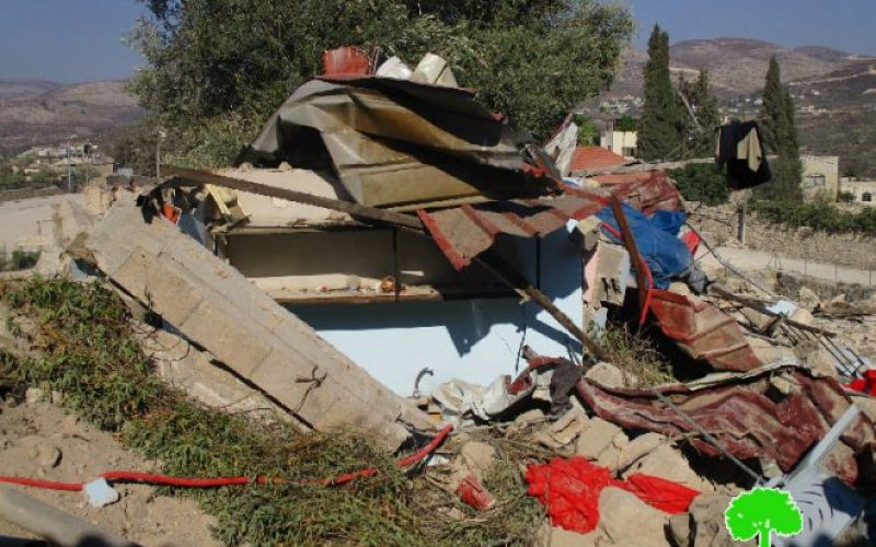 Israeli Occupation Forces demolish structures, impose self-demolition on a barrack in Nablus