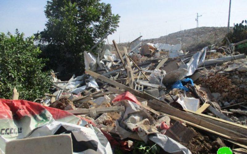 جيش الاحتلال يهدم 9 منشآت زراعية في مدينة قلقيلية