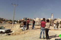 Israeli Occupation Forces demolish a social center and residence in Hebron town of Yatta