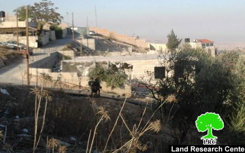 Israeli Occupation Forces demolish structures in the Jerusalem village of AL-Isawiya