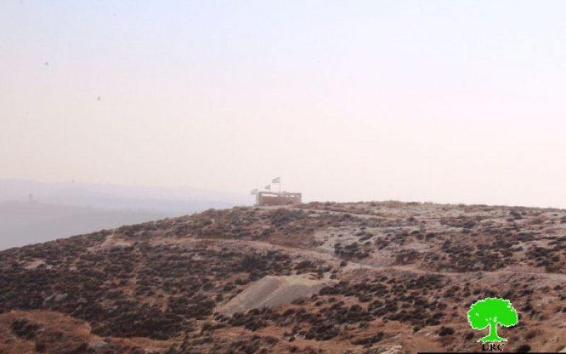 إنشاء  بؤرة استعمارية في خربة بيرين غرب بني نعيم بمحافظة الخليل