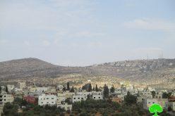 """الشروع بشق طريق استعماري جديد لصالح مستعمرة """"ألون موريه"""" على حساب أراض قرية دير الحطب"""