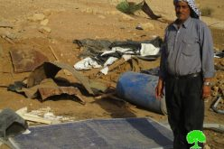 Israeli Occupation Forces demolish residential and agricultural structures in Tubas governorate