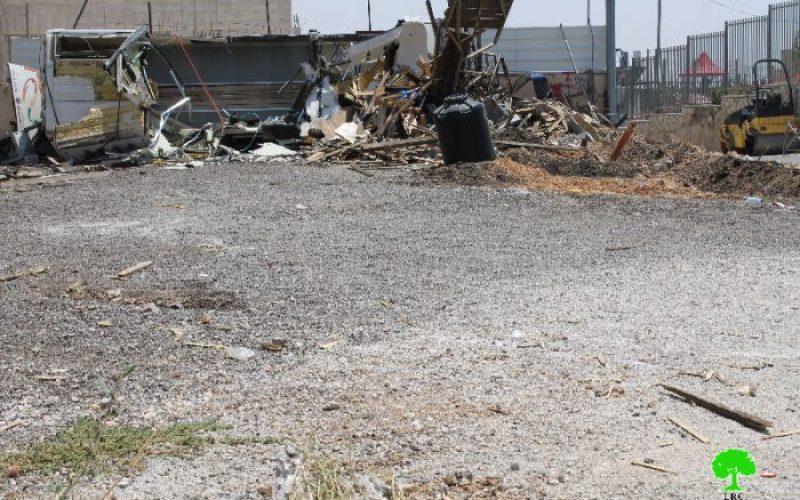 Israeli Occupation Forces ravage a plot used as Car Yard in Jerusalem