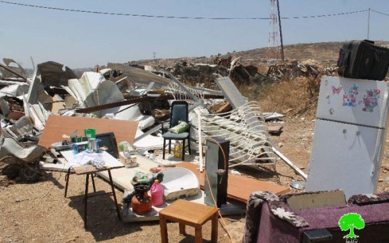 Demolition of caravan in the Jerusalem town of Beit Hanina