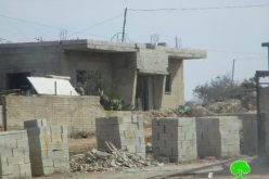 Israeli Occupation Forces notify structures of demolition and Stop-Work in Nablus governorate