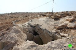 الاحتلال يهدم بئر مياه زراعي بقرية الديرات شرق يطا