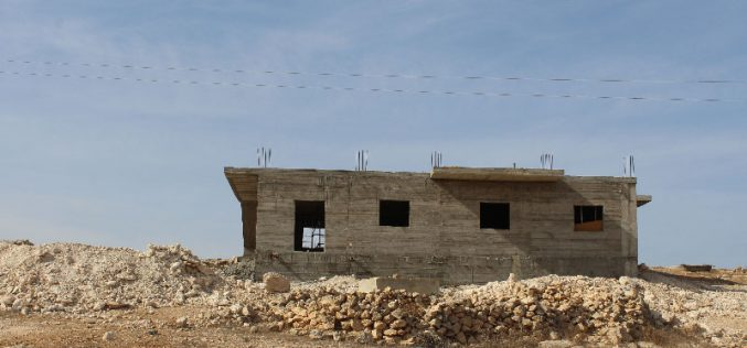 Stop-Work orders on structures in the Hebron town of AL-Samou'