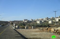 Israeli Occupation Forces seal off agricultural road in Ein Yabrud village