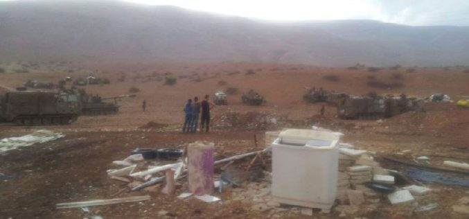Israeli Occupation Forces turn Furush Beit Dajan village into military training zone