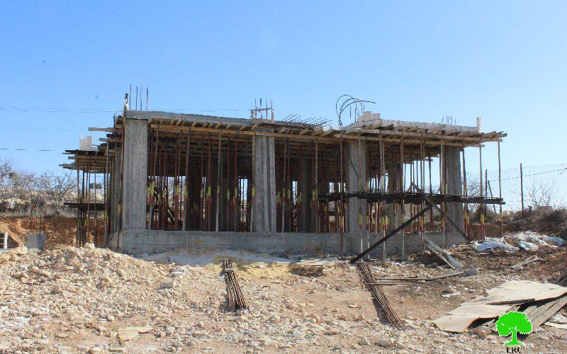 Stop-work orders in the Hebron town of Beit Ummar