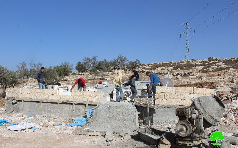 Stop-work order in the Hebron town of Idhna