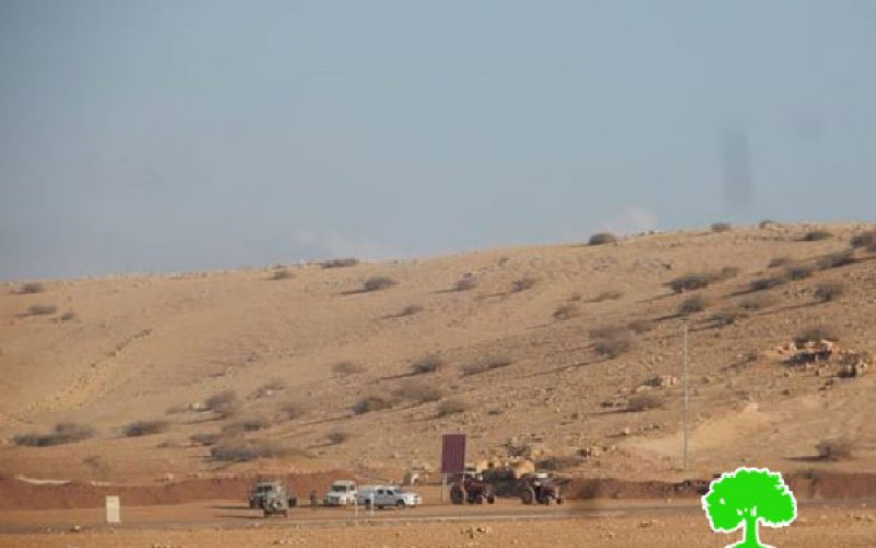 Israeli Occupation Forces confiscate agricultural tractors from Al-Ras Al-Ahmar and Ibziq areas of Palestinian Jordan Valley