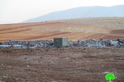 Israeli Occupation Forces confiscate garbage truck in Tubas governorate