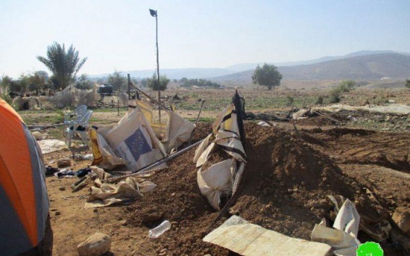 Israeli Occupation Forces demolish residences in the Jericho area of Fasayil AL-Wusta