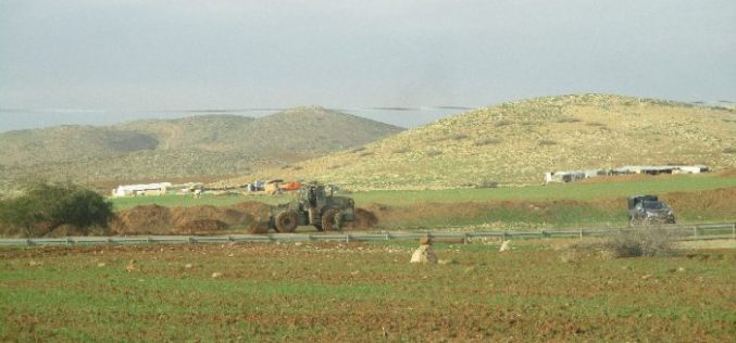 Israeli Occupation Forces demolish agricultural road Tubas governorate