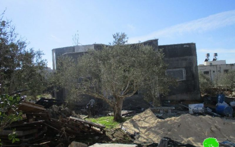 Israeli Occupation Forces notify residences and storage units of Stop-work in Salfit