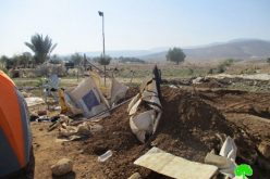 جيش الاحتلال يهدم مساكن في منطقة فصايل الوسطى