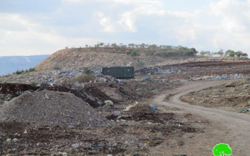 مصادرة سيارة لنقل النفايات في منطقة عينون شرق مدينة طوباس