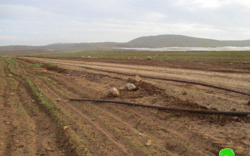 Israeli Occupation Forces demolish water supply line in Palestinian Jordan Valley