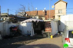 هدم منشآت تجارية ومصادرة غرفة متنقلة في قرية اللبن الغربي