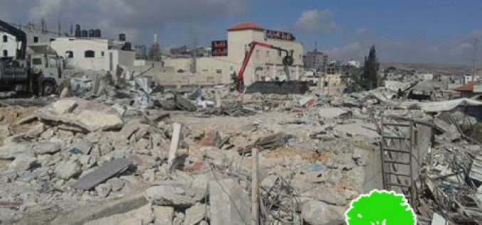 Israeli Occupation Forces demolish structures in Qalandiya Refugee Camp, north Jerusalem
