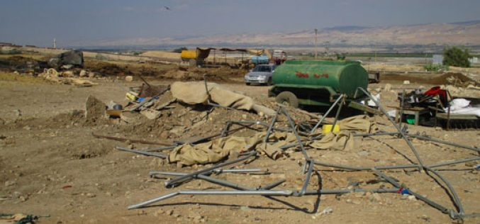 Large fines to restore confiscated tents owned by residents from Al-Himmeh hamlet